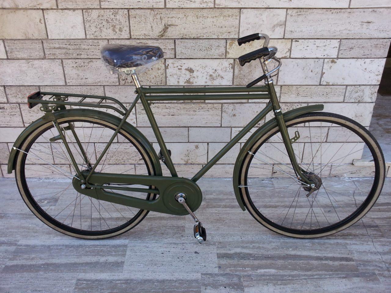 Restaurazione Bici Vicini Doppia Canna Verde Military Le Due Ruote